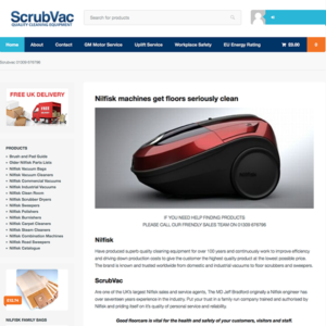 Ecommerce website – ScrubVac, Forres