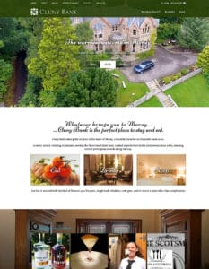 We built website for Cluny Bank Hotel in 2011 and 2017