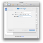 Apple Mail – Exchange – Add account details