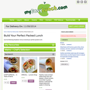 Ecommerce website – MyEasyLunch.com, Livingston