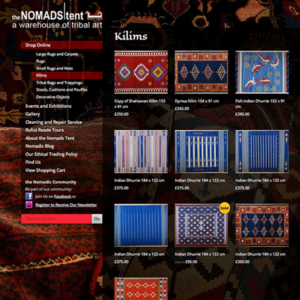 Ecommerce website – Nomads Tent, Edinburgh