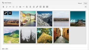 WordPress Gallery Previews